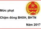 muc phat cham dong bhxh, bhtn
